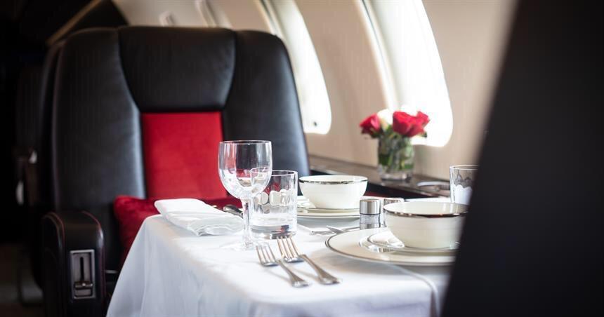 VIP at Barcelona - private Jet fine dining