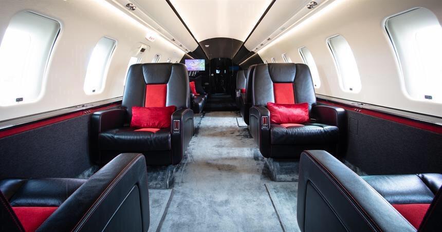 VIP at Barcelona - private Jet inside
